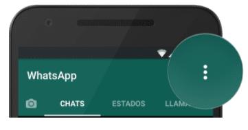 botón de Ajustes del whatsapp