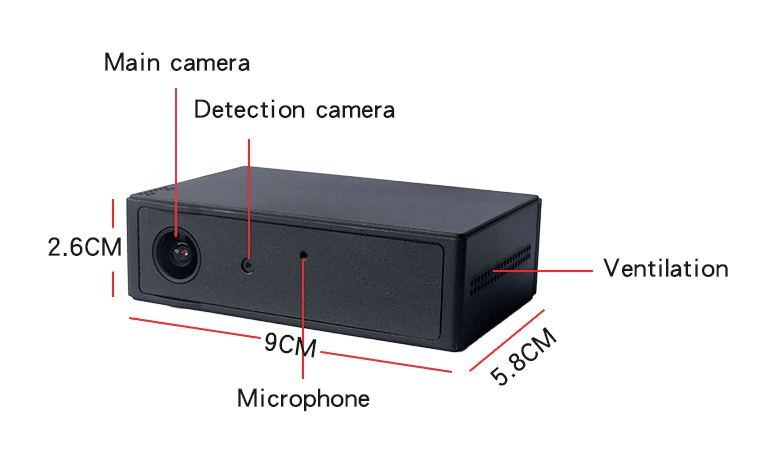 características de la cámara oculta para coche con batería