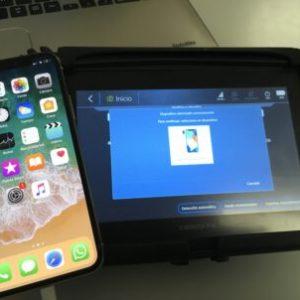 imagen de la recuperación de información de un iphone